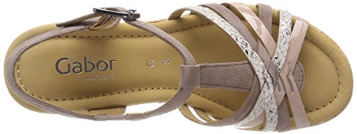 Con Alla dark Caviglia Comfort Sport Donna Multicolore Sandali Cinturino Kork Gabor Nude qXtSHx