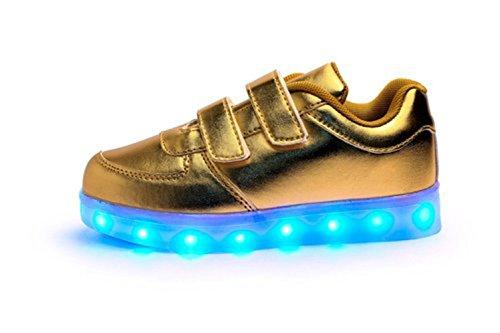 [Present:kleines Handtuch]JUNGLEST® 7 Farben LED Kinder, Jungen, Mädchen führte leuchten Trainer Sneakers Turnschuhe Sportschuh c18
