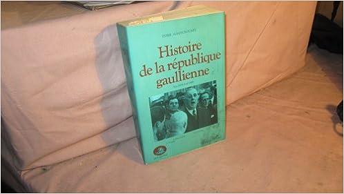 Livre gratuits en ligne HIST DE REPUBLIQUE GAULLIENNE epub, pdf