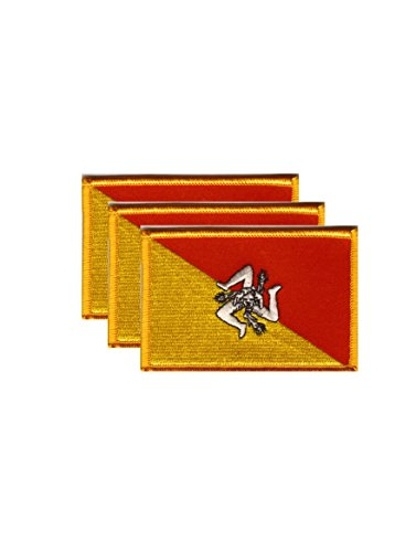 - Pack of 3 Sicily Flag Patches 3.50