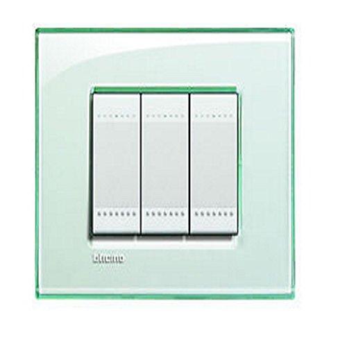 14 opinioni per BTicino LNA4804KA Livinglight Placca 4 Moduli, Quadra, Acquamarina