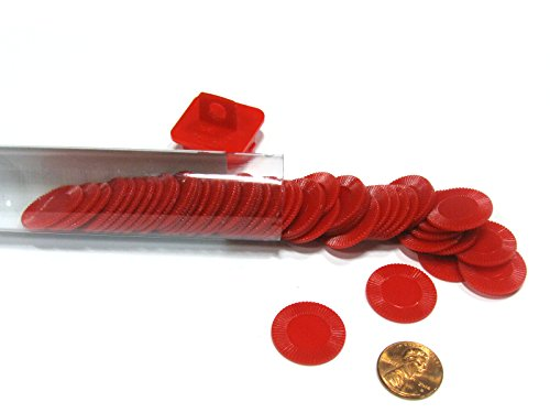 Koplow Games Red Mini Poker Chip 7/8In Tube of 50Ea