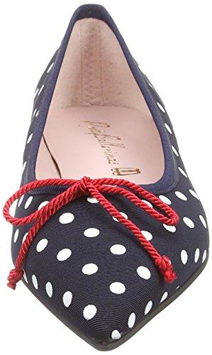 Do Women's Blue Bijoux Flats Deena Ballet Blue Ballerinas Pretty zv7xq0z