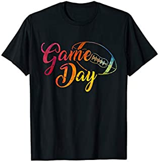 [Featured] Game Day Football - Rainbow Colors Cute Football in ALL styles   Size S - 5XL