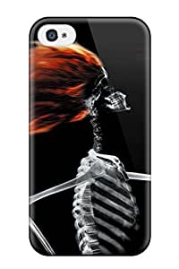 Iphone 4/4s Skeleton Blowdrying Hair Print High Quality Tpu Gel Frame Case Cover
