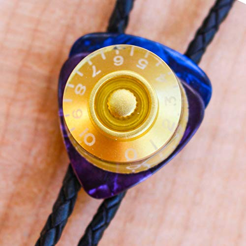 Gibson Les Paul Knob Bolo Tie | Electric Bolo Ties | String Tie | Men Women Teen Boyfriend Guitar Accessories with Cable Ends