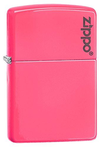 Zippo Logo Neon Pink Pocket Lighter (Bic Pink Lighter)