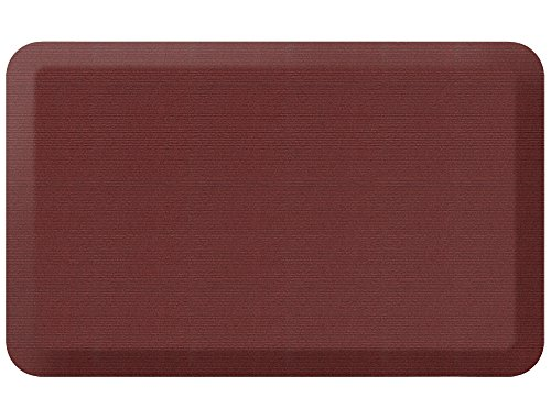 NewLife by GelPro Designer Comfort Mat, 20 by 32-Inch, Grasscloth Crimson