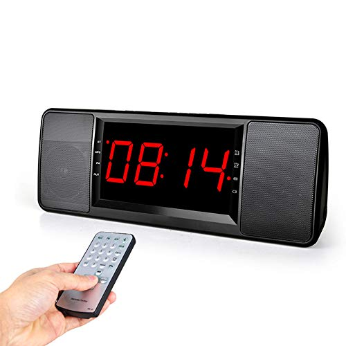 LH USB Wireless Bluetooth Audio Bedside Alarm Clock Remote Control Clock Speaker Card FM Mobile Bass Gun Large Screen Stereo 381811.5 ()