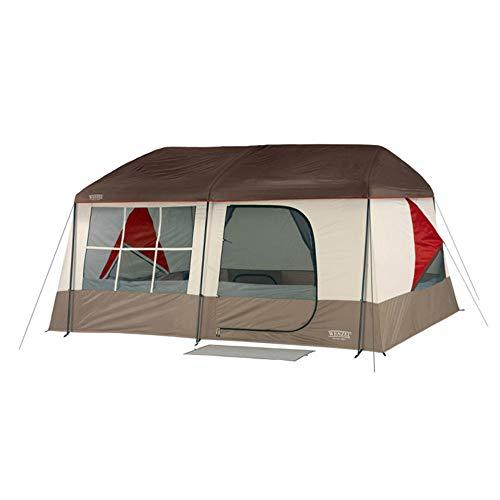 (Wenzel 36423 Kodiak Camping Family Cabin Tent w/Insta-Bed Queen Air Mattress)