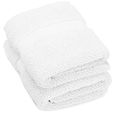 Pinzon Heavyweight Luxury 820-Gram Washcloths - Set of 2, White