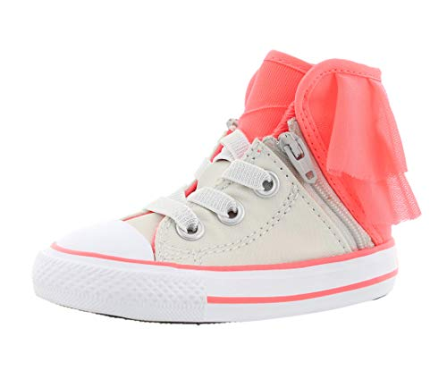 Converse Party Pack - Converse Chuck Taylor All Star Block Party - HI - Pure Silver/HOT Punch/White - Infant (8 Toddler M)
