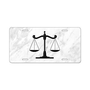 amazon cafepress scales of justice aluminum license plate Horse Slant Aluminum Trailers image unavailable