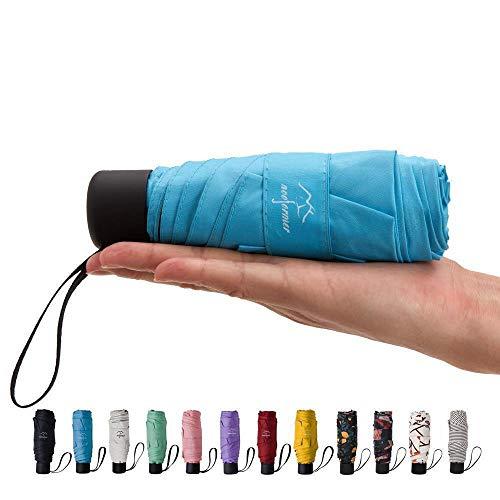 (NOOFORMER Mini Travel Sun&rain Umbrella - Light Compact Parasol with 95% UV Protection for Men Women Multiple)