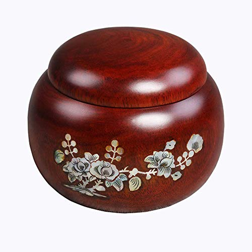 (LIZONGFQ Medium Cremation Urn Funeral Urns Wooden for Human Ashes and Pet Rosewood [Energy Class A])
