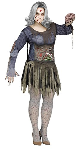 Fun World Women's Plus Size Zombie Costume, Multi, XX-Large -