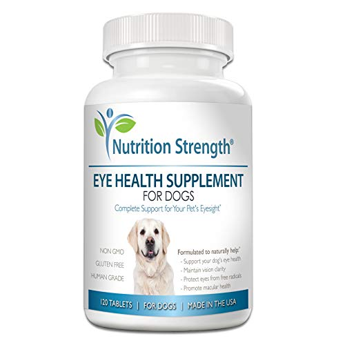 - Nutrition Strength Eye Health Supplement for Dogs with Lutein, Bilberry Fruit, Grape Seed & Green Tea Extract, Multivitamin Support for Dog Eye Allergies & Irritation Problems, 120 Chewable Tablets