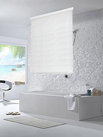 Badewanne Vorhang halb kassetten duschrollo duschvorhang 60cm breite