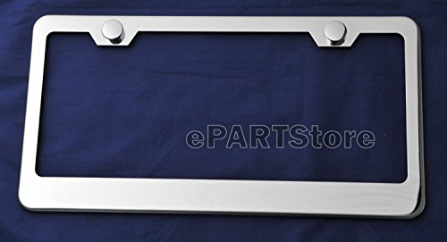 Plain Polished Stainless Steel License Plate Frame Mirror finish New (Polished License Plate Frame compare prices)