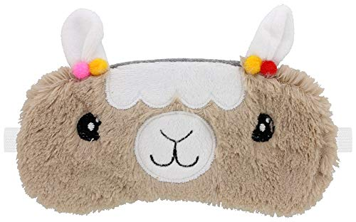 Furry Llama Eye Mask Sleep Mask Brown -