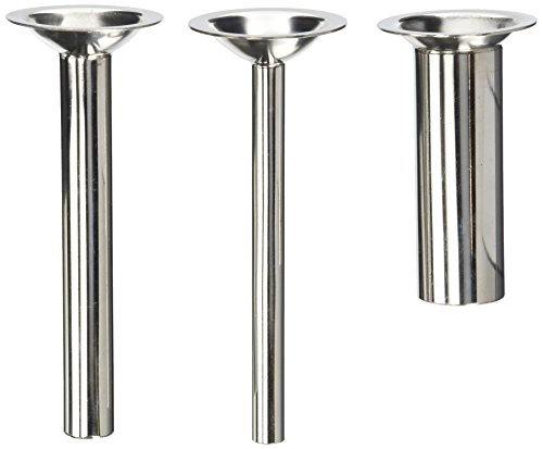 "Price comparison product image THREE PACK 6"" long Sausage Stuffing Stuffer Tubes for Kitchenaid Mixer Meat grinder attachment. Fits FGA plastic model and the vintage metal ones. STAINLESS STEEL"