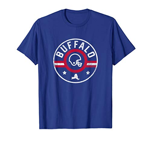 Buffalo Football Stars and Stripes New York Outline T-Shirt