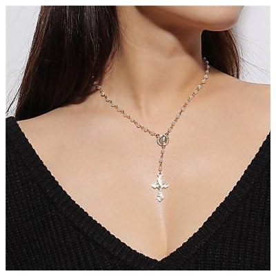 MJW&XL Femme Croix Forme Rétro Pendentif de collier , Imitation de perle Alliage Pendentif de collier Quotidien Plein Air Bijoux de fantaisie