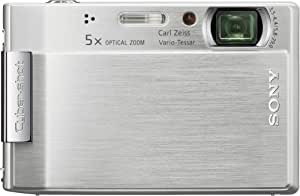 Sony Cybershot DSC-T100 8MP Digital Camera with 5x Optical Zoom and Super Steady Shot (Silver)
