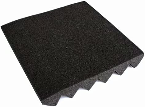 Charcoal Black Acoustic Wedge Foam Absorption Soundproofing Tiles 12x12x2 12 Pack