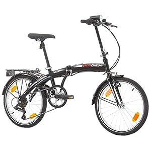 Multibrand, PROBIKE Folding 20, 20 Pollici, 310 mm, City Bike Pieghevole, 6 velocità, Unisex, Anteriore e Posteriore Mudgard, Shimano, Bianco Verde