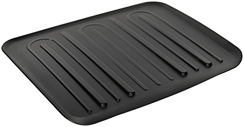 Microban Dish - Rubbermaid Antimicrobial Drain Board, Large, Black L3-1182-M6-BLA
