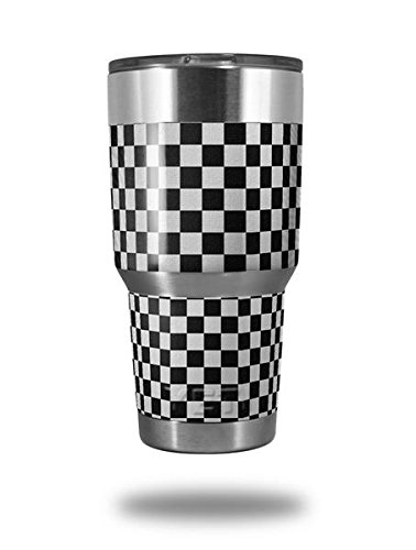 0f39e2b5d9e Amazon.com : Skin Decal Wrap for Yeti Tumbler Rambler 30 oz Checkered  Canvas Black and White (TUMBLER NOT INCLUDED) : Everything Else
