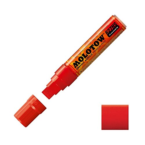 Molotow ONE4ALL Acrylic Paint Marker, 15mm, Traffic Red, 1 Each (627.202)