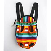#4 Colorful Cotton Canvas Puppy Pet Dog Carrier Front Backpack Net Bag Large