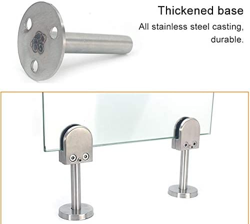 S Specification Bathroom balcony glass fixing clip 304 Stainless Steel Glass Fish Mouth Support Rod Fixing Clip with 14x40mm Rod