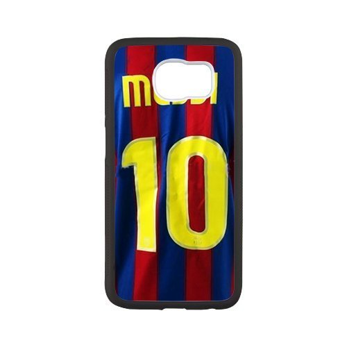 DIY Barcelona Soccer Futsal FC Messi Custom Case Shell Cover for Samsung Galaxy S6 Case (Laser Technology)