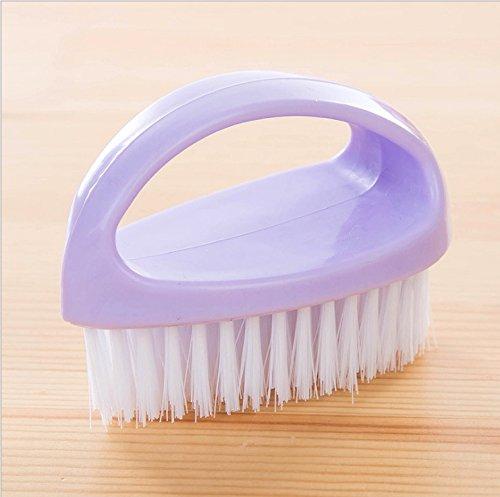 CWAIXX Baño limpieza de cepillo de múltiples funciones del cepillo plástico verde con manija baño cepillos cepillos de limpieza de limpieza Cepillo de lavado, Púrpura