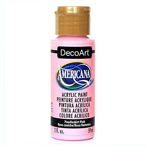 Americana Skirt - DecoArt Americana Acrylic Paint, 2-Ounce, Poodle Skirt Pink