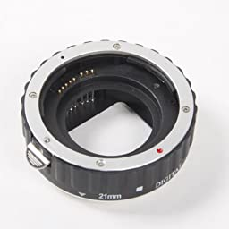 Kaavie -The Premium Aluminum Mount Version (Rugged and Lightweight, Best Option Extended Goal) - Set Automatic Extensions Ring for Canon Eos Ef / Af - * 3 Rooms: 13 Mm, 21 Mm, 31 Mm * Bayonet - Canon EOS Canon EOS 1d C, 1d X, 1d Mark I-iv, I-1ds Mark Iii,