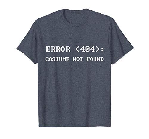 (Mens Error 404 Costume Not Found Nerdy Halloween Costume T-Shirt XL Heather)