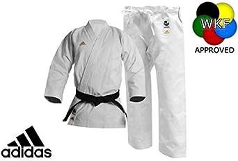 Stratford on Avon cuatro veces Remontarse  Amazon.com : adidas Karate Competition Kigai Gi (White, 7.5) : Clothing