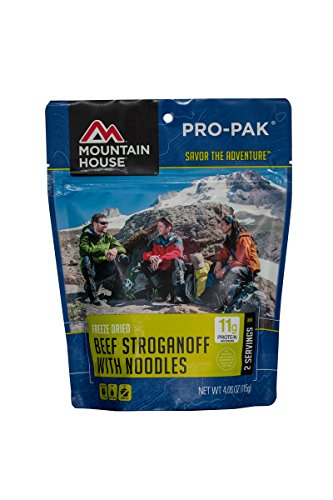- Mountain House Beef Stroganoff with Noodles Pro-Pak