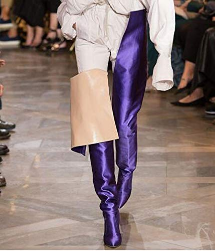 Model Winter Style Women Fashion Show P U Fashion Boots Purple Null