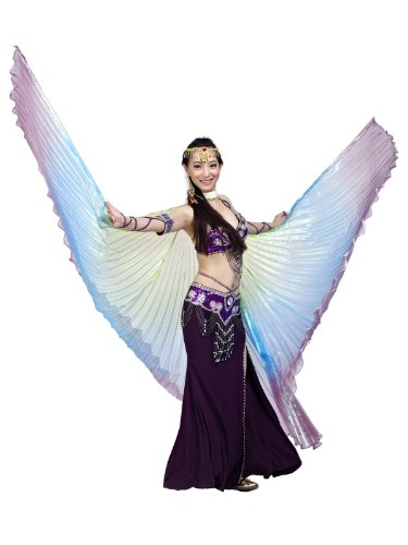 Dance Fairy Colorful Dance Isis Wings(Green,Blue,Purple Mixed No.7) (Adult Wings)