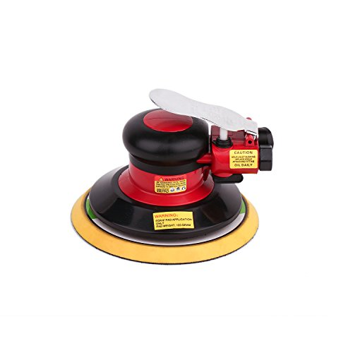Air Random Orbital Sander, Pneumatic Polisher Grinding Sanding Tools (6 Inch) -