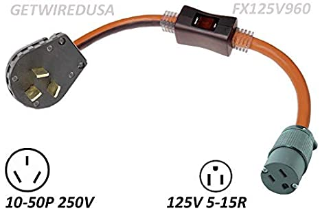 Gas Stove Power Cord Adapter With Inline Safety Circuit Breaker, Oven on