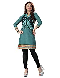 Cotton Kurti Top Tunic Embroidered Womens Blouse India Clothing