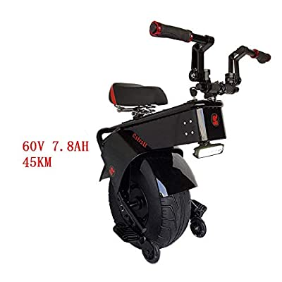 LiChenYao Powerful Electric Scooter 1000W 60V One Wheel Self Balancing Scooters Big Tires Motorcycle Electric Unicycle Scooter Adults (Color : A, Size : 45KM): Home & Kitchen