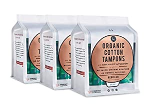 L. Organic Cotton Tampons with BPA-Free Applicators, Regular Absorbency