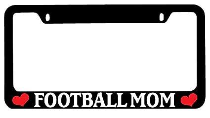 Black License Plate Frame FOOTBALL MOM Auto Accessory 769